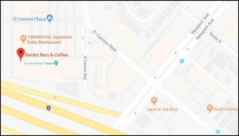 Map to Bardot Bars & Coffee, 662 El Camino Real, Tustin